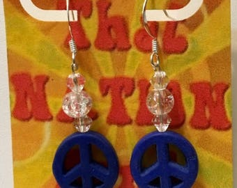 That NATION Band Sterling Silver Howlite Peace Earrings