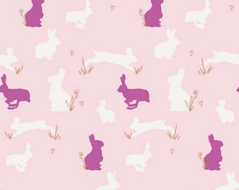 Bunny Binkies Fluff in knit designed by Art Gallery Fabrics - Knit Fabric, stretch fabric
