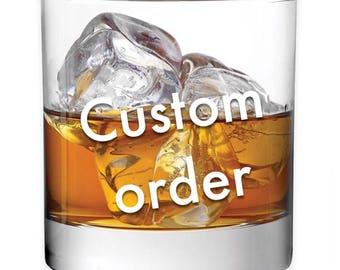 Custom Whiskey Glass