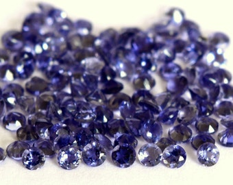 Best Quality Natural Faceted Iolite Round Gemstone Loose Iolite calibrated gemstone 5 Pieces lot 6mm Iolite Faceted Round Loose Gemstone