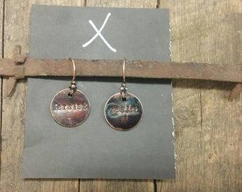 Resist + Persist Copper Earrings