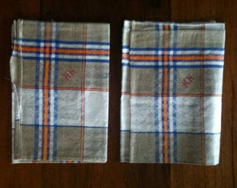 2 x authentic French antique tea towels ... approx. 1915