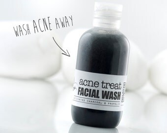 ACNE TREAT Facial Wash~Activated Charcoal~Anti Acne~Propolis~Herbal Acne Treatment~Organic Facial wash~Acne cleanser~Natural face wash