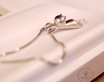 925 sterling silver Chain Cat