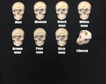 Liberal Skull T Shirt