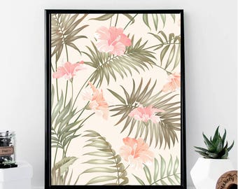 Tropical Background Print // Minimalist // Wall Art // Office DIY // Scandinavian // Modern Office // Fashion Poster // Abstract // Modern