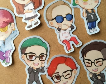 Chibi EXO CBX Stickers