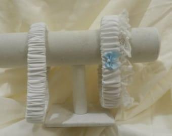 White Bridal Garter Set