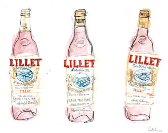 Pink Lillet Rose Watercolor Art print