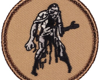 Zombie Patch (282) 2 Inch Diameter Embroidered Patch
