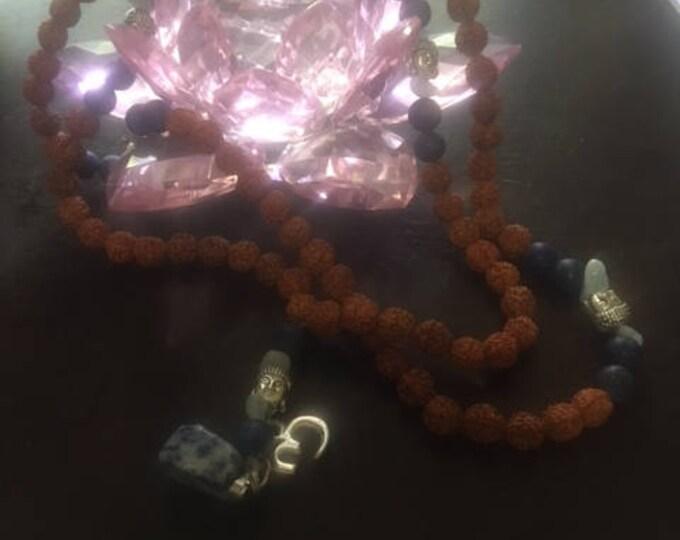 Lapis Lazuli & Rudraksha Mala