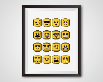 Everything is awesome, LEGO kids room decor, Digital print, 8x10 and 5x7, PDFs