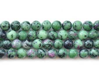 15 inches Natural Ruby Zoisite,Zoisite Gemstone,Ruby in Zoisite Beads,6mm 8mm 10mm 12mm ,DIY Jewelry Making