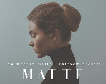 20 Professional Matte Lightroom Presets Professional Photo Editing for Portraits, Newborns, Weddings By LouMarksPhoto