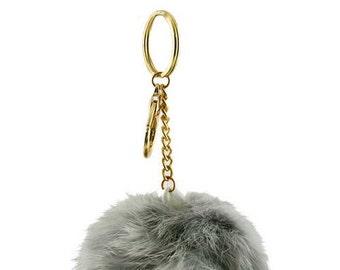 Soft Faux Fur Pom Pom Keychain Purse Clip Pom Pom