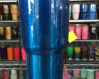 ROYAL BLUE SPARKLE powdercoated yeti 30oz