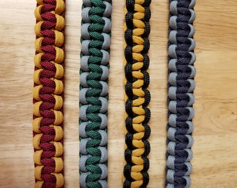 Harry Potter Inspired Hogwarts House Paracord Dog Collars