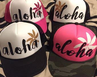 Aloha Tiare Trucker Hat
