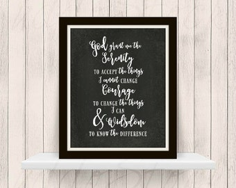 Serenity Prayer Chalkboard Background