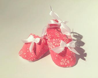 Shoes / Sneakers / Shoes baby coral capel liberty. Hand made in France