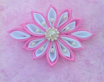 """Gorgeous Kanzashi Flower Hair clip. 5"""" inches big"""