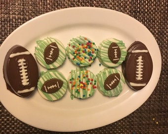 Football Chocolate Covered Oreos