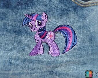 Patch / patch - My Little Pony magic pony - purple - 6.7 x 6.8 cm - patch application applications to the iron application patches
