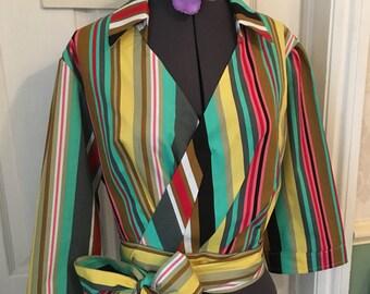 Boston stripe Blouse. Vintage inspired Rockabilly top