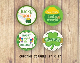 Our Little Lucky Charm Cupcake Toppers, End of the Rainbow Cupcake Toppers