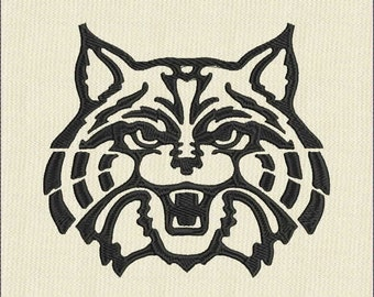 Moks95 Wildcat  Machine Embroidery Design in formats: jef, dst, hus, pes, exp, vp3, vip, xxx.