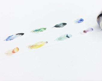Colorful Feather Washi Tape