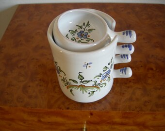 """""""Fun-mouth"""" appetizer set in MOUSTIERS Faience"""