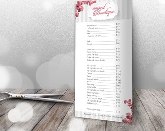 Salon Professional Price List