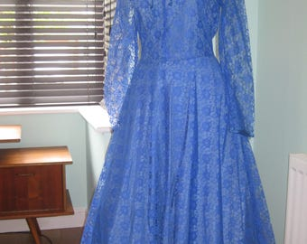 Vintage Dress in Royal Blue