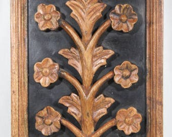 Beautiful Hand Carved Floral Wall Hanging