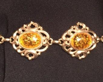 Gold Bracelet Vintage Costume Jewelry