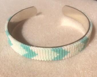 Miyuki Cuff Bracelet turquoise