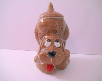 McCoy Hound Dog Cookie Jar or Dog Treat Container Made in USA