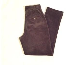 L.L Bean Vintage Women's Brown Corduroy Pants Size 4  27X30