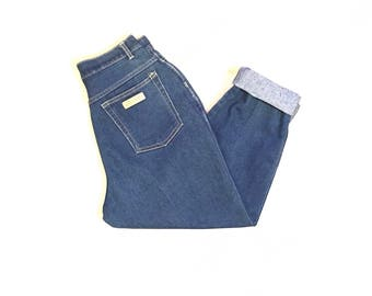 PS Gitano 80s 90s High Waist Vintage Women's Denim Mom Jeans Size 12 Short 26X25 1/2