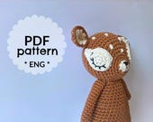 Sleeping fawn amigurumi pattern - PDF pattern - crochet animal pattern - amigurumi toy pattern - amigurumi wood animal pattern