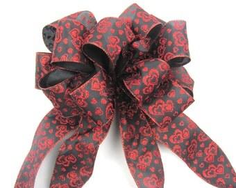 wreath bow, holiday bow, outdoor wreath bow, outdoor bow, valentine wreath bow, valentine's Gift bow, valentine bow, valentine's bow
