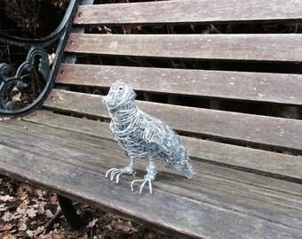 Little bird handmade chicken wire sculpture
