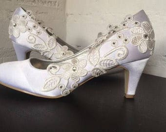 Tulip (bridal wedding low heel shoes)