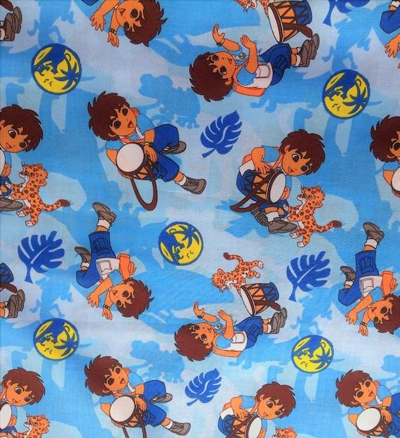 Deigo tv movie cartoon comic liscensed novelty childrens for Novelty children s fabric