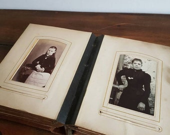 Very old vintage photograph album