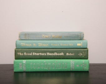 Four Green Spine Books, Instant Library, Decor Books