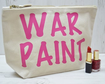 War Paint Makeup Bag | Best Friend Gift | Large Cosmetic Bag | Birthday Present | Cosmetic Bag | Makeup Bag with War Paint