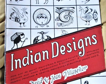 Book of Indian Designs, American Indians, Southwest Indian art, quilt patterns, needlepoint patterns,