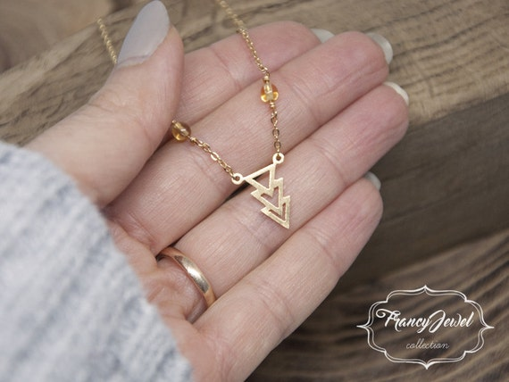 Chevron triangle minimalist necklace, geometric necklace, bridesmaid jewelry, layering, everyday necklace, wedding necklace